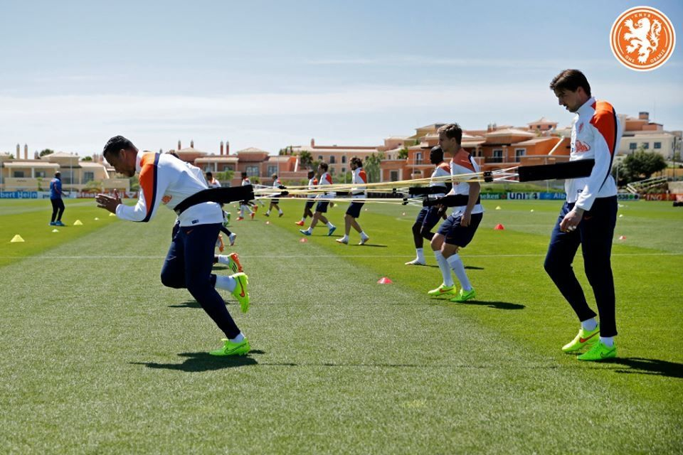 Dutch squad pre World Cup training at Cascade Resort, Lagos, Algarve