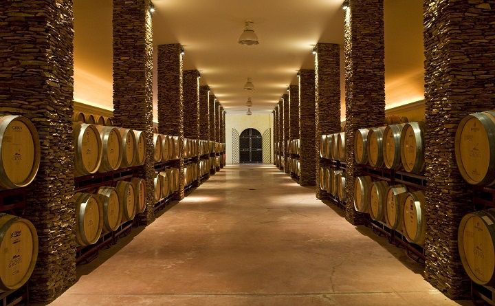 Herdade dos Grous wine cellar, Alentejo, Portugal