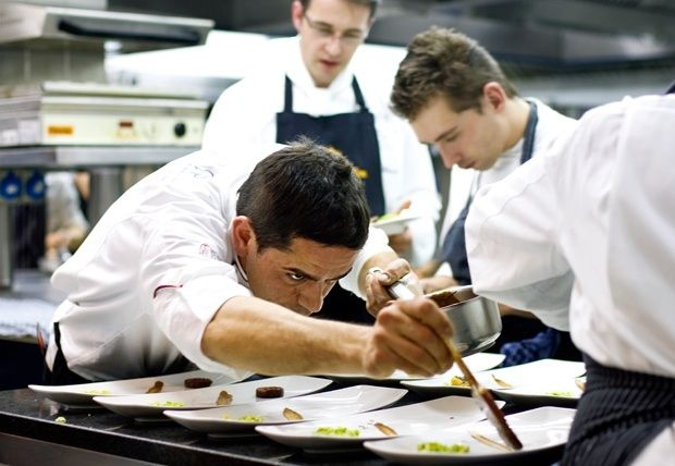 Matteo Ferrantino in the kitchen at Vila Joya