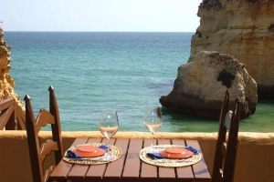Sea views at Caniço restaurant Algarve
