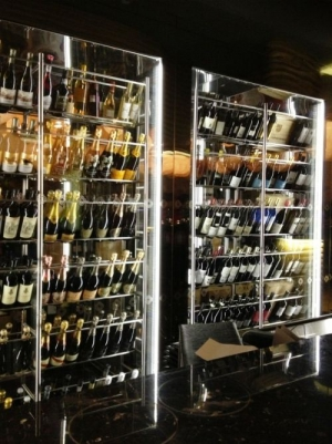 Wine room at Gusto by Heinz Beck at Conrad Algarve
