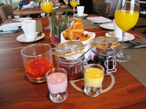 Breakfast at Louro Restaurant, Conrad Algarve, Quinta do Lago, Portugal