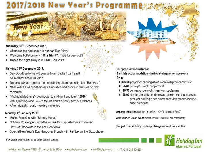 New Year's Eve at the Holiday Inn Algarve