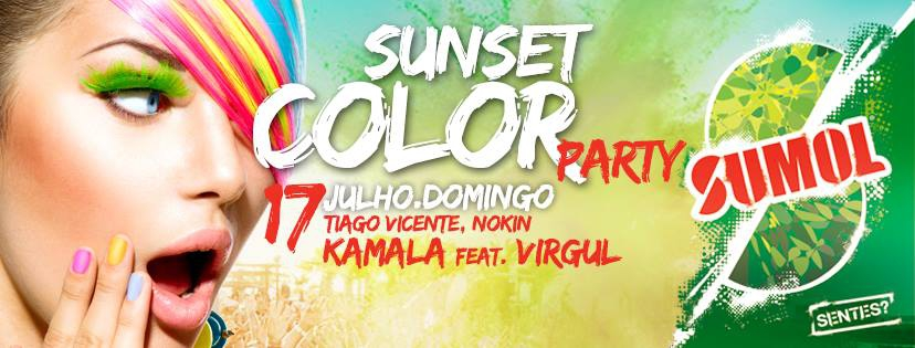 Sunset Colour Party at NoSoloAgua