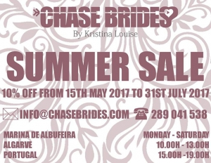 Chase Brides Summer Sale