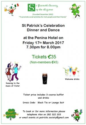 St Patricks Celebration Dinner & Dance