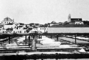 Portimão, Algarve - salt pans, 1930's