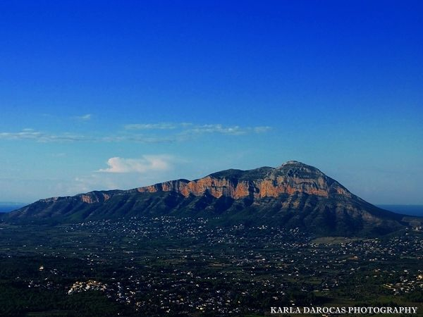 Impressive Montgo mountain between Javea and Denia