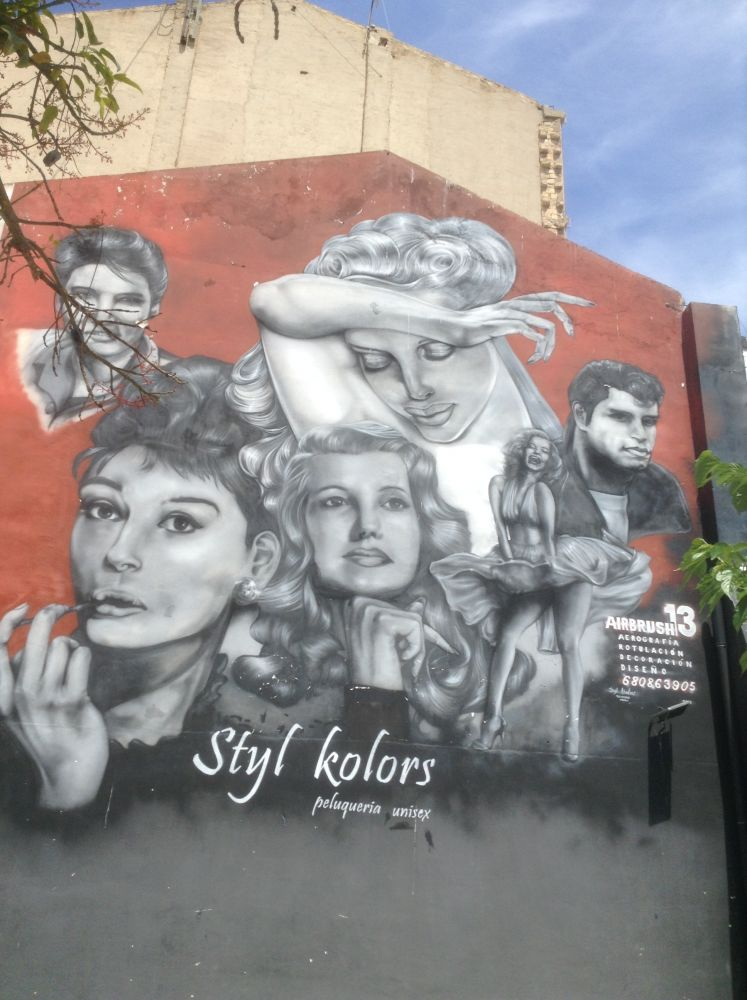 Iconic Holloywood legends including Audrey Hepburn and Elvis in Alicante