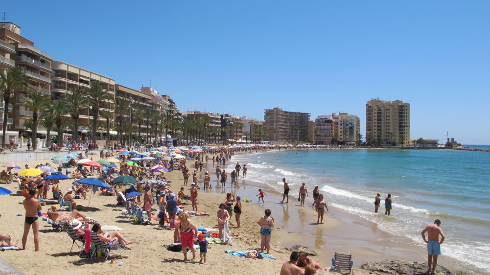 Beaches in Spain are a big attraction for families