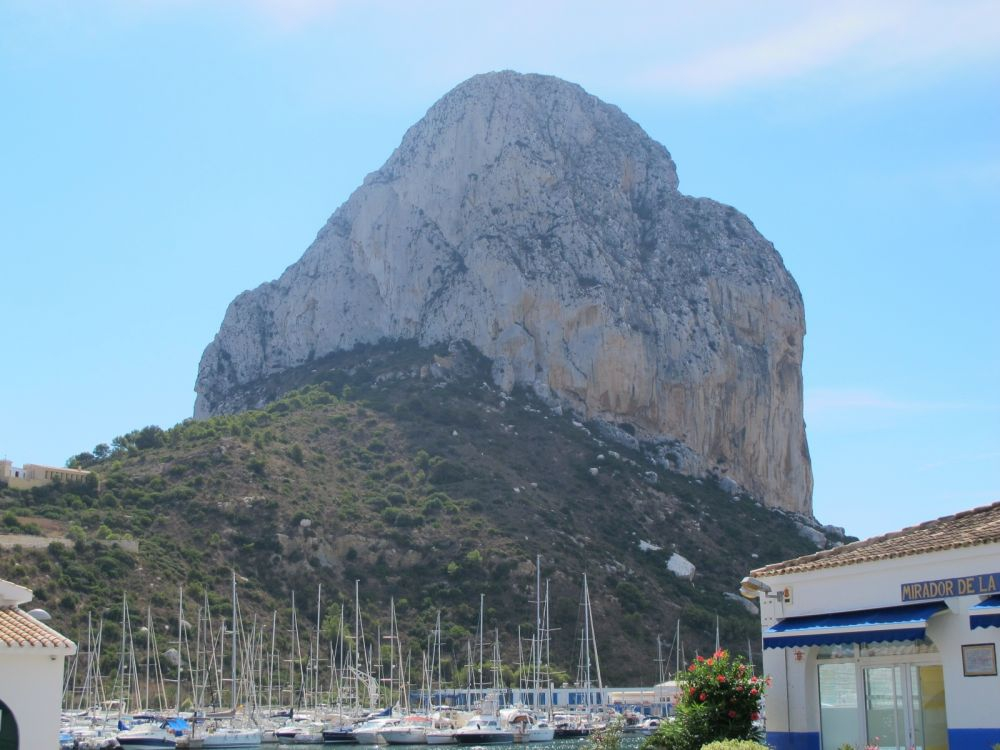 Ifach rock dominates the skyline at Calpe