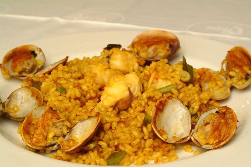 Valencian rice is perfect for absorbing flavours