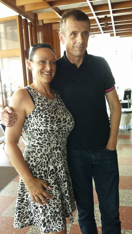 Chloe Leigh and EastEnders actor Tom Watt in Torrevieja