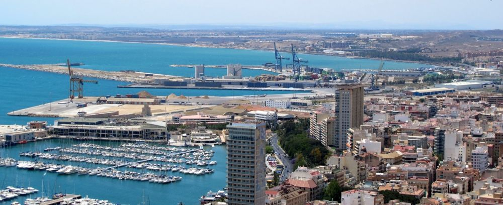 alicante city, marina and castle