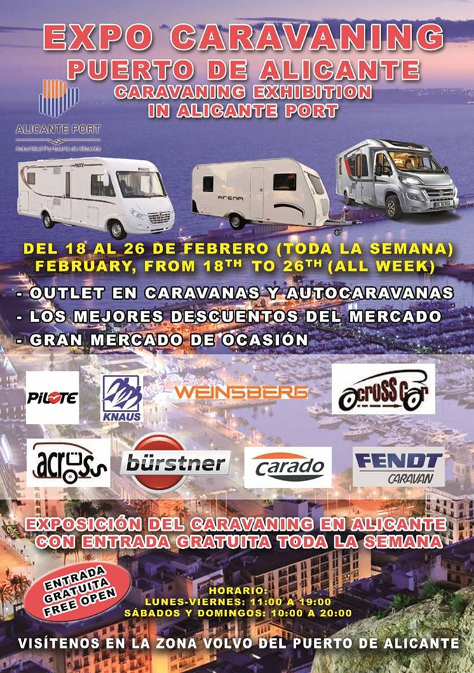 1st Caravan Exhibition in Alicante Port