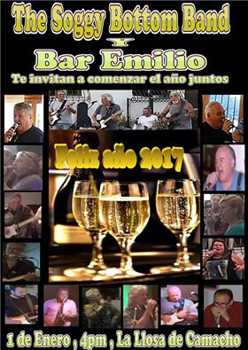 Jamming with the Soggy Bottom Band at Bar Emilio