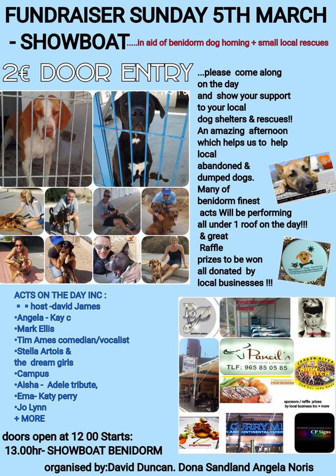 Benidorm Dog Homing Fundraiser