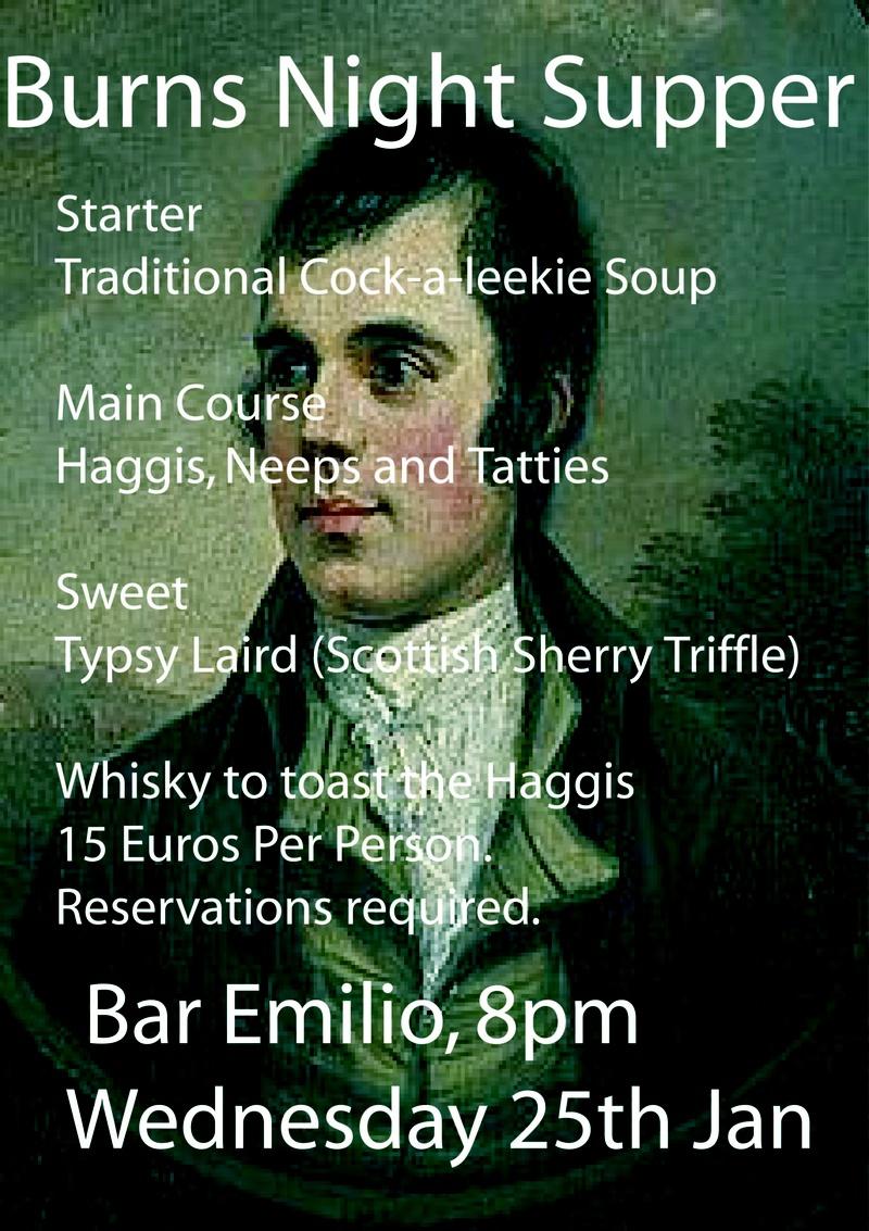 Burns Night at Bar Emilio