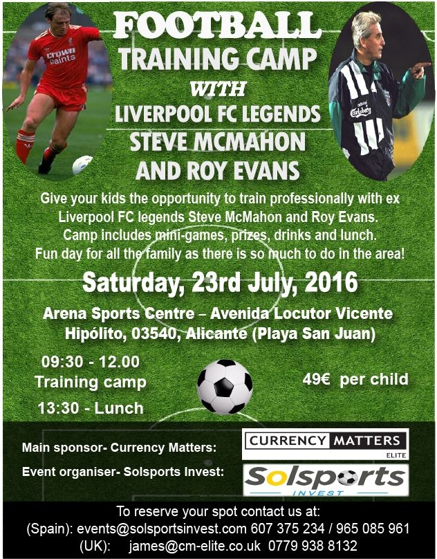 Football Training Camp with Liverpool FC Legends Steve McMahon & Roy Evans
