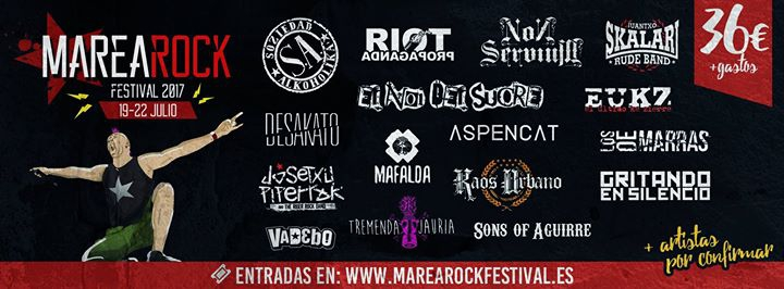 Marearock Festival 2017 - 19 al 22 de Julio