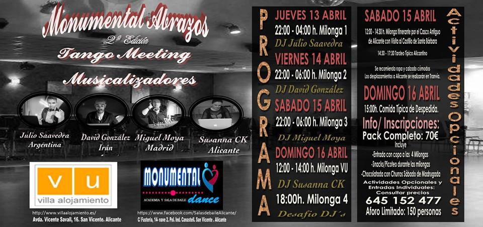 Monumental Abrazos Tango Meeting in Alicante