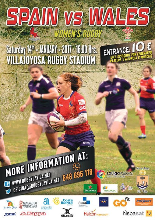 Spain v wales, womens rugby
