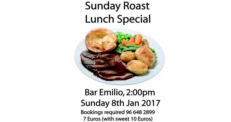 Sunday Roast at Bar Emilio