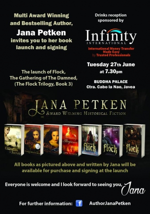 Book launch and signing by award winning author, Jana Petken