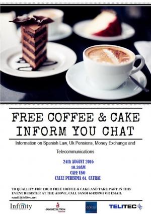 Free Coffee & Cake Inform You Chat