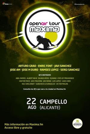 Maxima Open Air Tour 2017 en El Campello el 22 de agosto