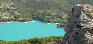 View of the stunning reservoir from Guadalest