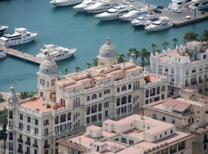 Alicante Port from Castle