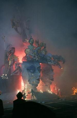Fiesta statues going up in smoke