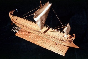 Model of Ancient Greek trireme