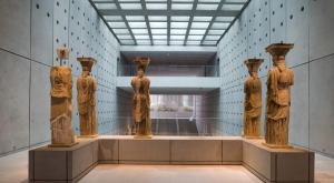 Rear View of the Karyatides, New Acropolis Museum