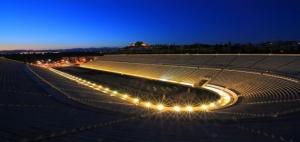 Panathinaiko stadium (Kallimarmaro) by night