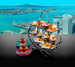 High tea at Orbit Revolving Restaurant