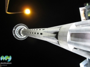Skytower at night