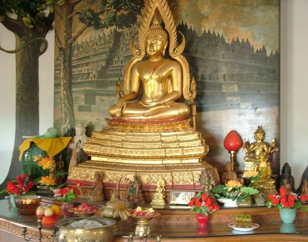 Inside Buddhist Temple - balihellotravel.com