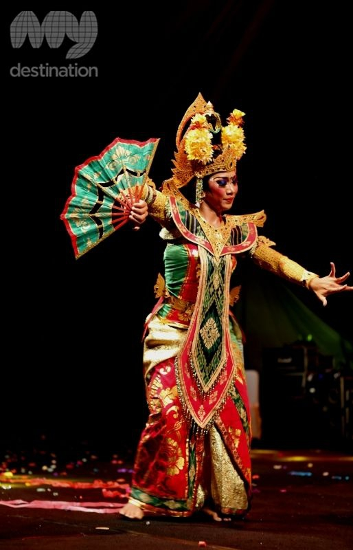 The Balinese costumes are dazzling