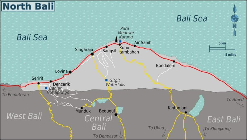 North Bali points of interest
