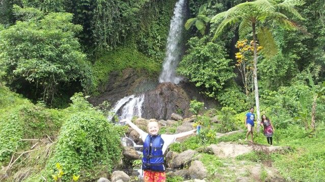 Bali waterfall - departure point for river rafting