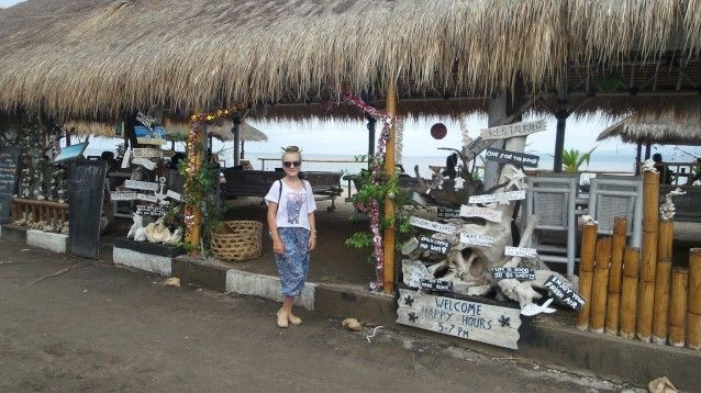 Ready for a meal on Gili Air waterfront