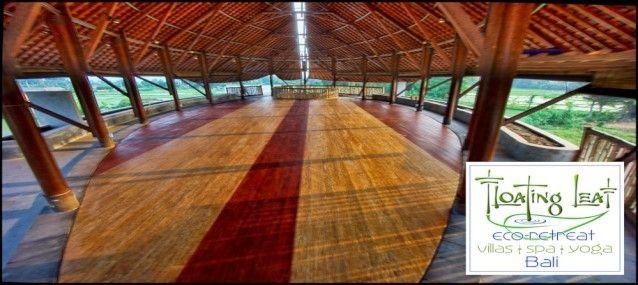 Upper floor Yoga room under Floating Leaf roof