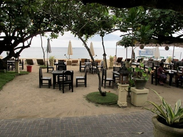 One of many beach restaurants in Sanur