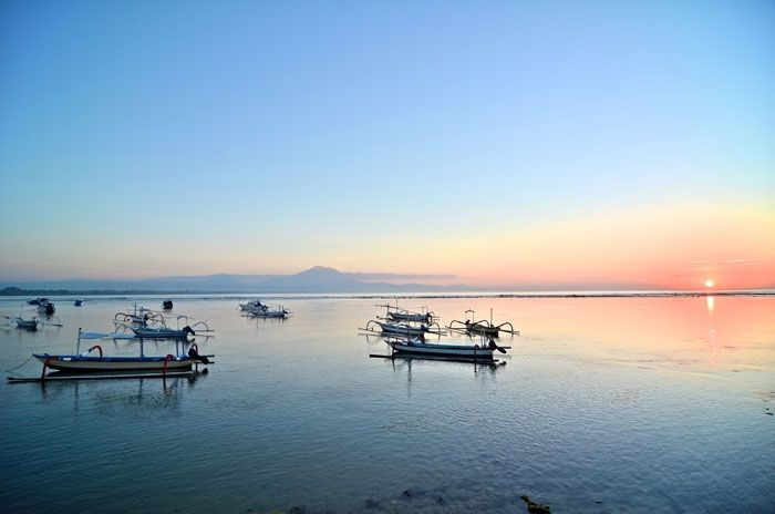 Calm waters off Sanur