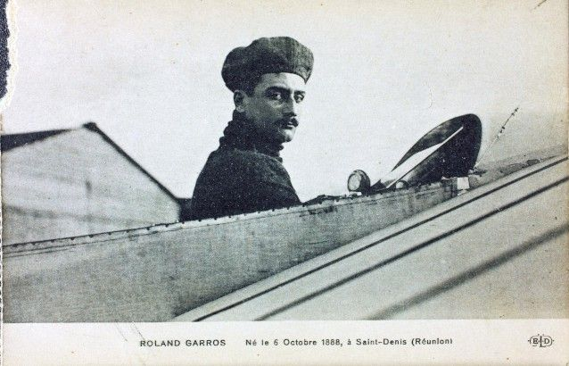 Roland Garros in 1 of his flying machines