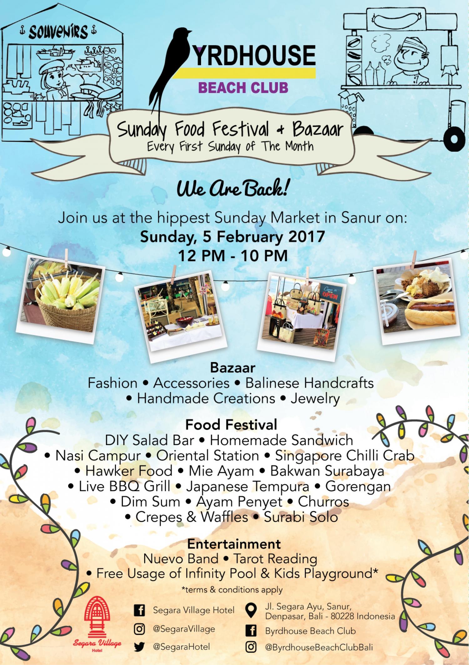 Byrdhouse Sunday Food Festival & Bazaar