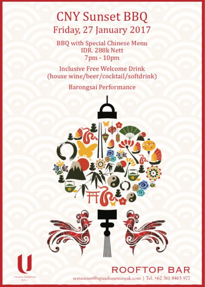 Chinese New Year Sunset BBQ at U Paasha Seminyak