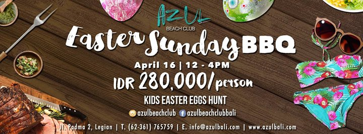 Easter Sunday Brunch at Azul Beach Club